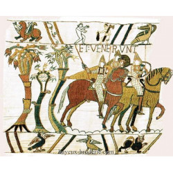 bayeux broderie reproduction depart des normands