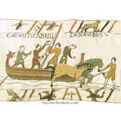 kit tapisserie bayeux débarquement des chevaux