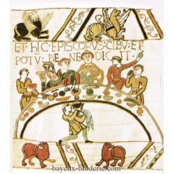 kit à  broder tapisserie Bayeux le repas