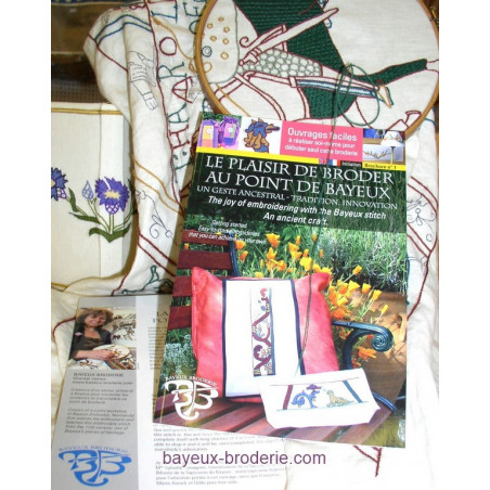 The book -THE JOY OF EMBROIDERING WITH BAYEUX STITCH. ANCIEN CRAFT