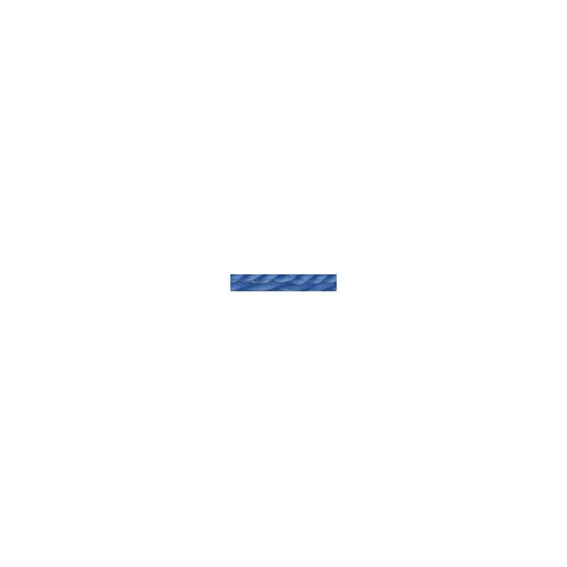 Tresse laine bleu