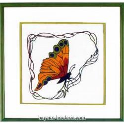 Bayeux broderie papillon droit