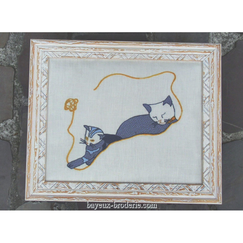 Les chats bayeux broderie