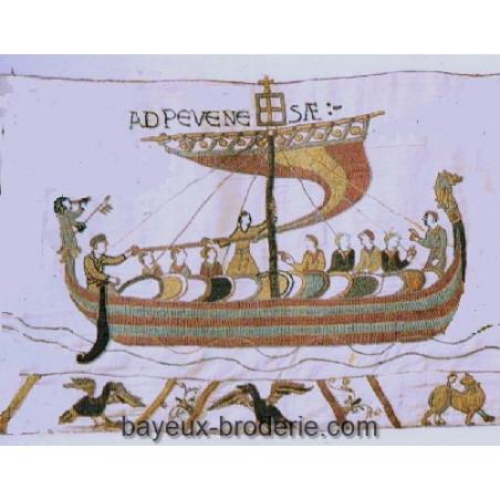 Le drakkar du duc avec la frise - William's boat and the border