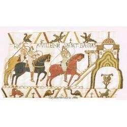 William and harold at Bayeux -l'arrivée de Bayeux -
